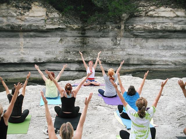 cvičení ve skalách